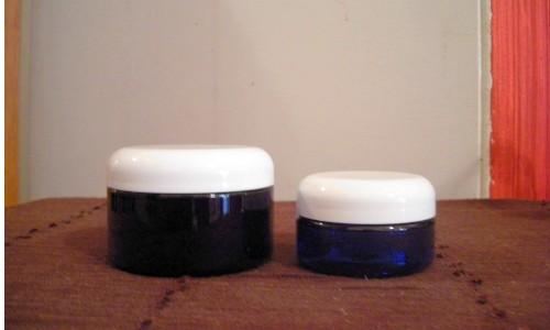 Pots à onguents en plastique cobalt