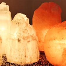 Lampes de sel et sélénite