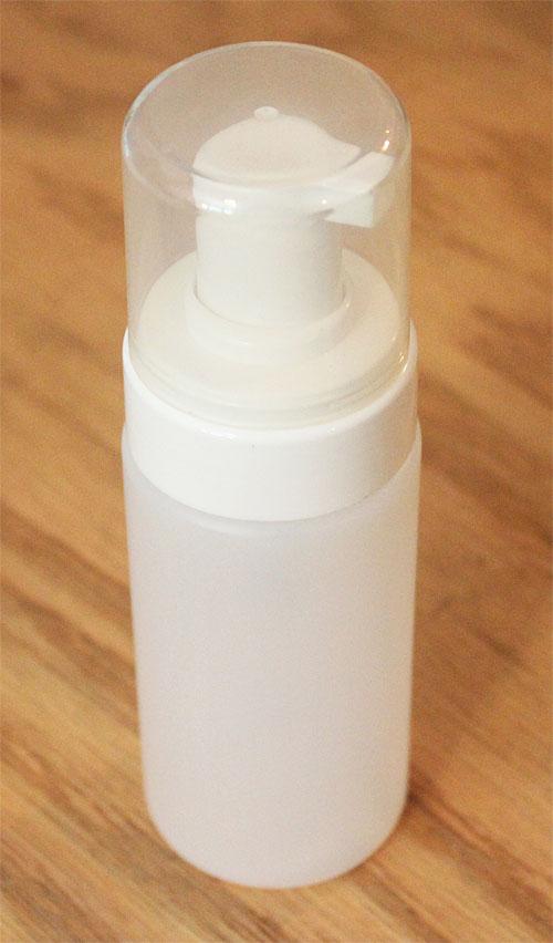 Bouteille en plastique avec pompe moussante 4 onces